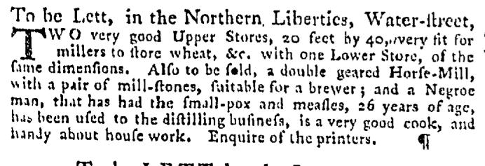 Sep 3 - Pennsylvania Gazette Supplement Slavery 1