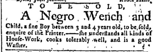 Sep 7 - New-York Gazette Slavery 1