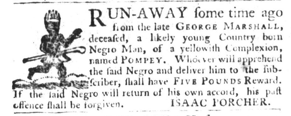 Oct 6 - South-Carolina Gazette and Country Journal Slavery 2