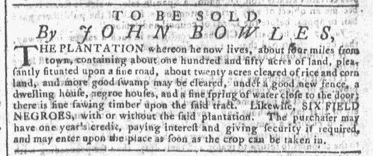 Oct 7 - Georgia Gazette Slavery 8