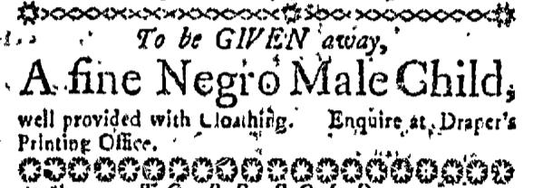 Oct 8 - Massachusetts Gazette Slavery 1