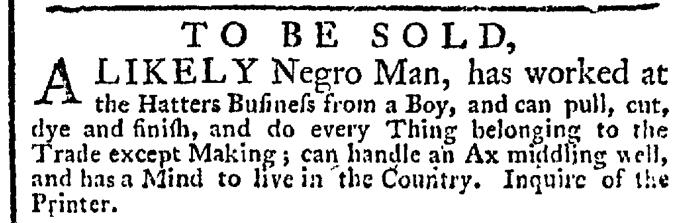Oct 8 - New-York Gazette Weekly Post-Boy Slavery 1