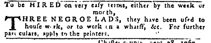 Oct 8 - Pennsylvania Gazette Slavery 1