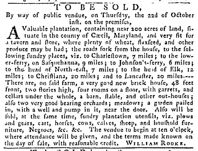 Oct 8 - Pennsylvania Gazette Slavery 2