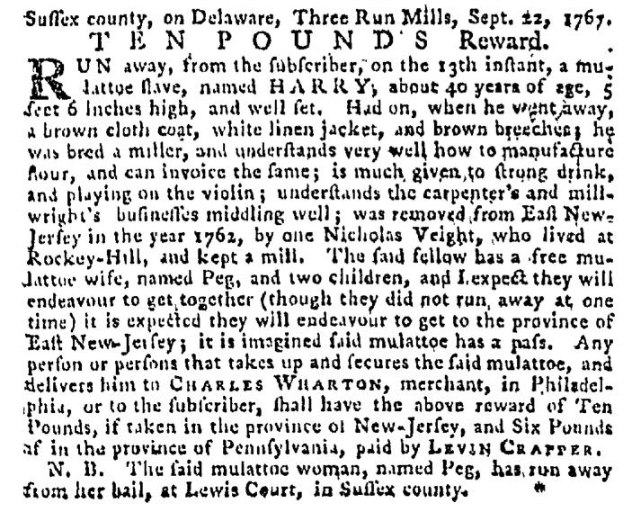 Oct 8 - Pennsylvania Gazette Supplement Slavery 1