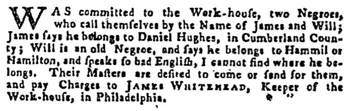 Oct 8 - Pennsylvania Gazette Supplement Slavery 3