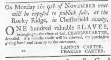 Oct 8 - Virginia Gazette Slavery 10