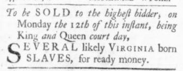 Oct 8 - Virginia Gazette Slavery 3