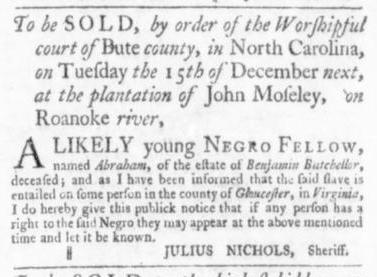 Oct 8 - Virginia Gazette Slavery 8