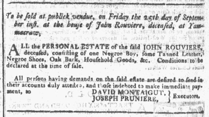 Sep 16 - Georgia Gazette Slavery 10