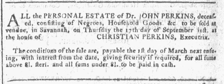 Sep 9 - Georgia Gazette Slavery 8