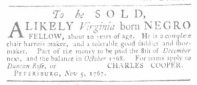 Nov 12 - Virginia Gazette Slavery 3