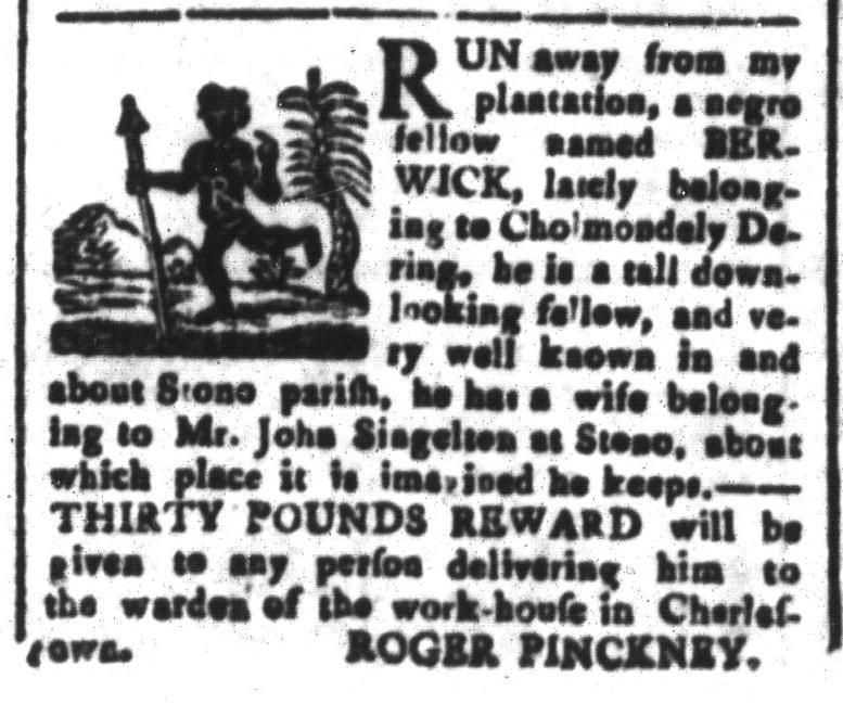 Nov 13 - South-Carolina and American General Gazette Slavery 2