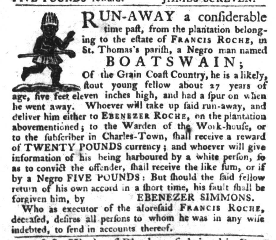 Nov 17 - South-Carolina Gazette and Country Journal Slavery 8