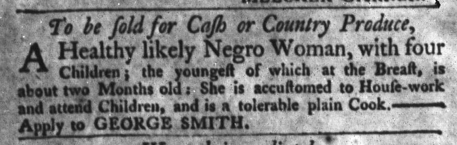 Nov 3 - South-Carolina Gazette and Country Journal Slavery 7