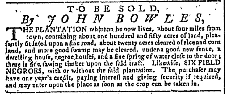 Nov 4 - Georgia Gazette Slavery 4