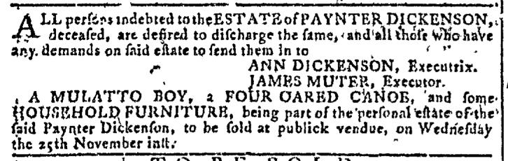 Nov 4 - Georgia Gazette Slavery 9
