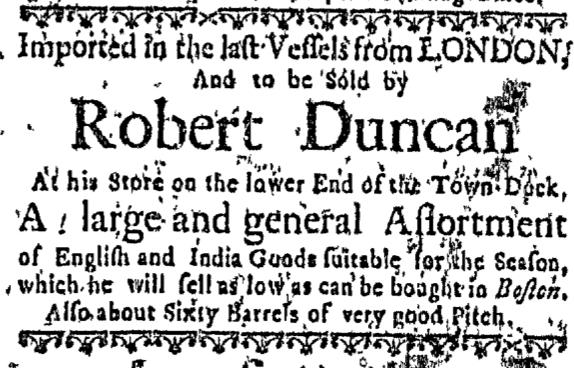 Nov 5 - Massachusetts Gazette Slavery 1