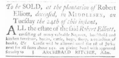 Nov 5 - Virginia Gazette Slavery 2