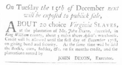 Nov 5 - Virginia Gazette Slavery 4