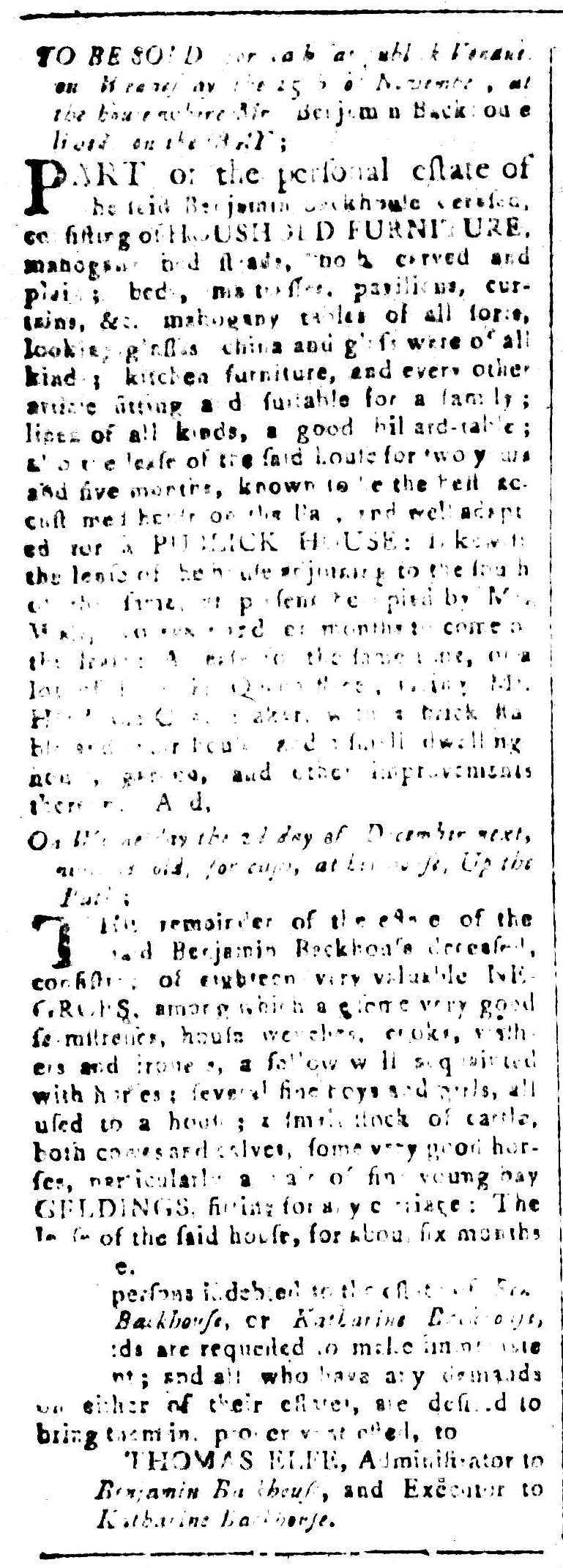 Nov 6 - South-Carolina and American General Gazette Slavery 1