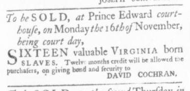 Oct 15 - Virginia Gazette Slavery 3