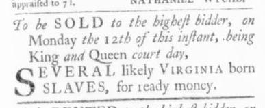 Oct 15 - Virginia Gazette Slavery 6
