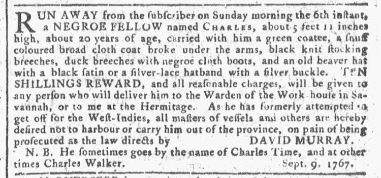 Oct 21 - Georgia Gazette Slavery 8