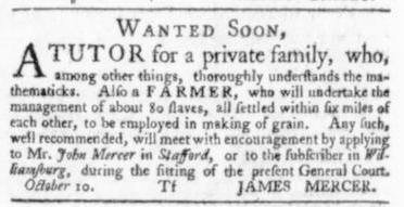Oct 22 - Virginia Gazette Slavery 2