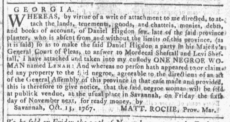 Oct 28 - Georgia Gazette Slavery 11