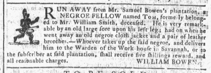 Oct 28 - Georgia Gazette Slavery 9