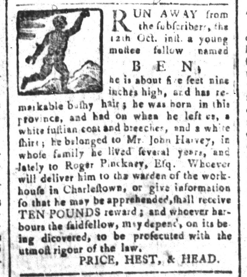 Oct 30 - South-Carolina and American General Gazette Slavery 3