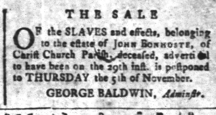 Oct 30 - South-Carolina and American General Gazette Slavery 6