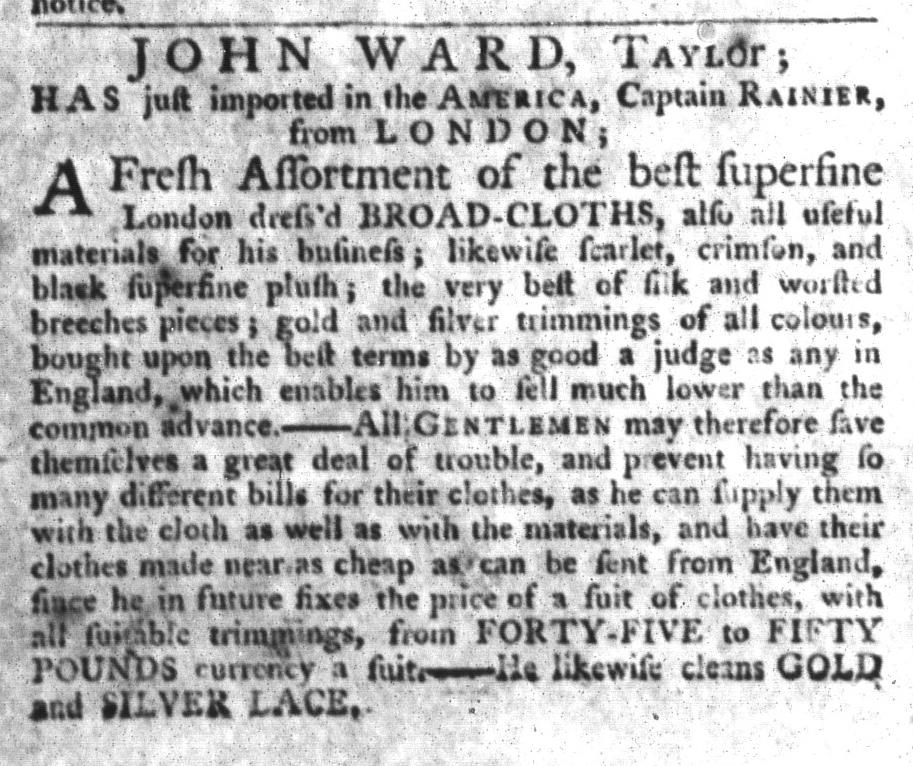 Oct 6 - 10:6:1767 South-Carolina Gazette and Country Journal
