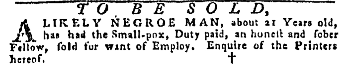 Dec 10 - Pennsylvania Gazette Slavery 2