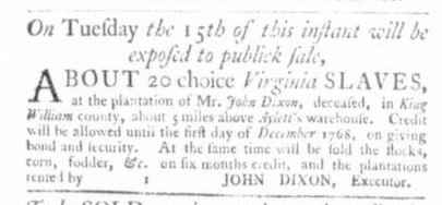 Dec 10 - Virginia Gazette Slavery 4