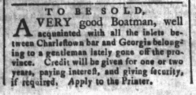 Dec 11 - South-Carolina and American General Gazette Slavery 3