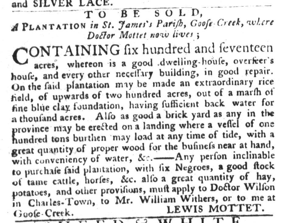 Dec 15 - South-Carolina Gazette and Country Journal Addition Slavery 1