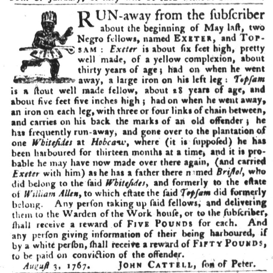 Dec 15 - South-Carolina Gazette and Country Journal Slavery 2