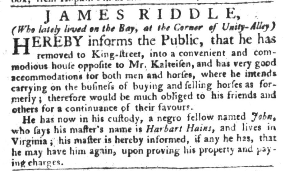 Dec 15 - South-Carolina Gazette and Country Journal Slavery 6