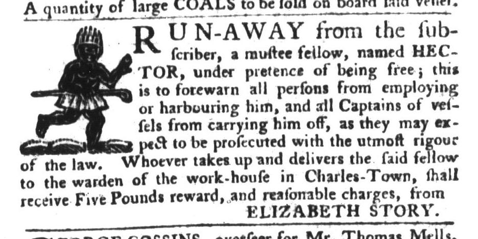 Dec 15 - South-Carolina Gazette and Country Journal Slavery 7