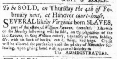 Dec 17 - Virginia Gazette Slavery 5