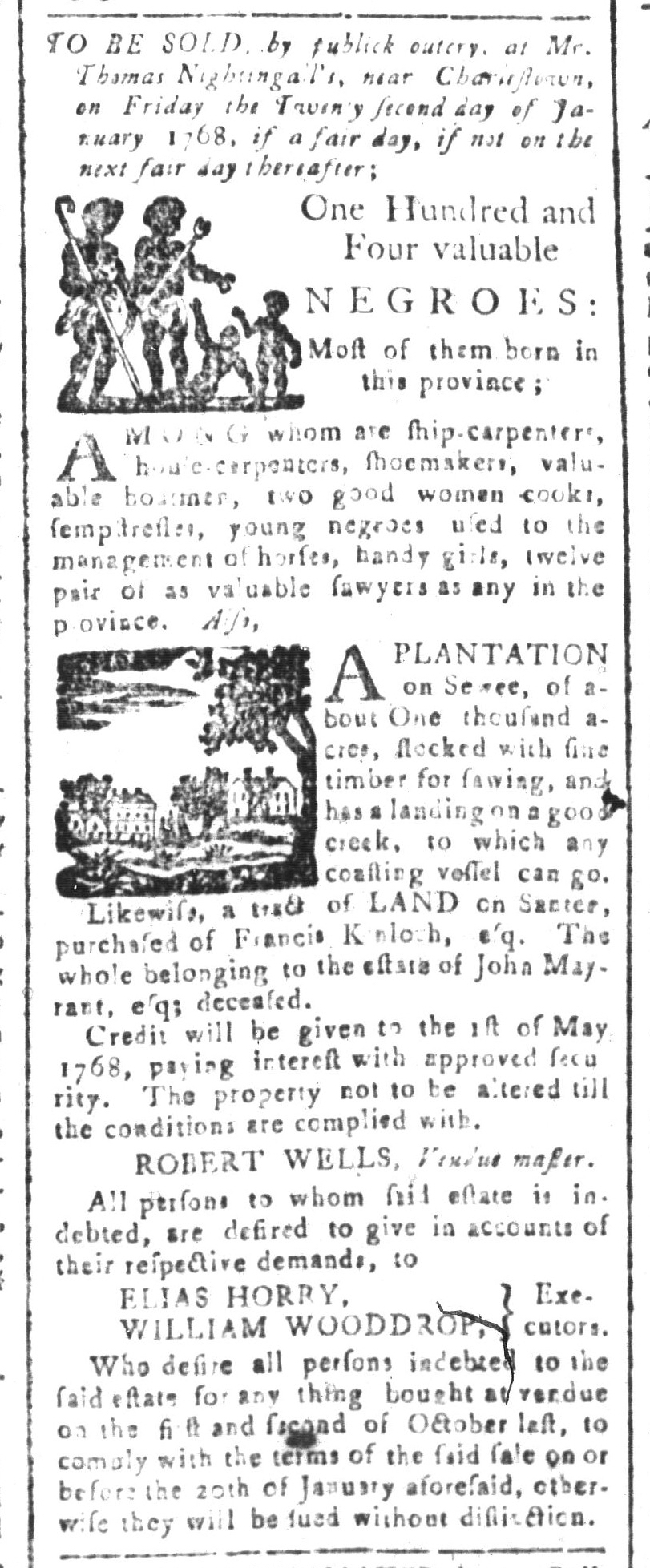 Dec 18 - South-Carolina and American General Gazette Slavery 4