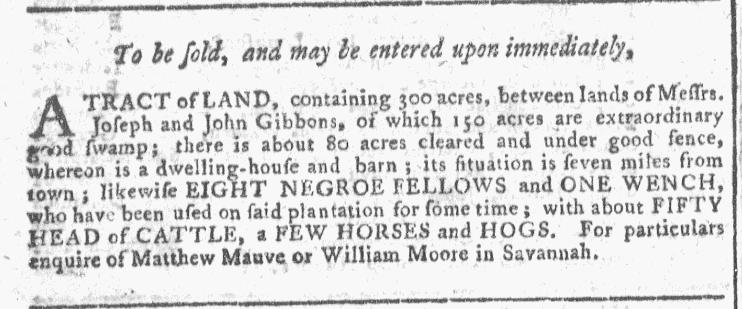 Dec 2 - Georgia Gazette Slavery 2