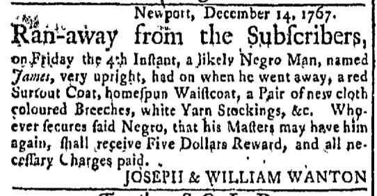 Dec 21 - Newport Mercury Slavery 1