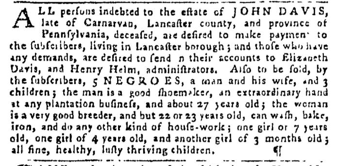 Dec 24 - Pennsylvania Gazette Slavery 2