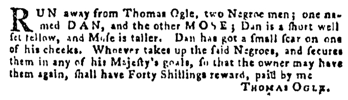 Dec 24 - Pennsylvania Gazette Supplement Slavery 1