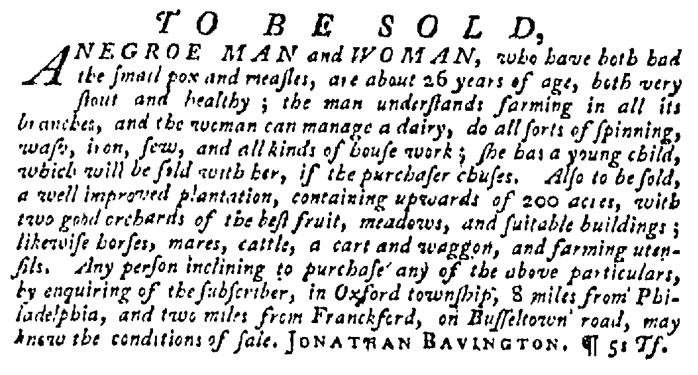 Dec 24 - Pennsylvania Gazette Supplement Slavery 4