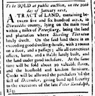 Dec 24 - Virginia Gazette Rind Slavery 3