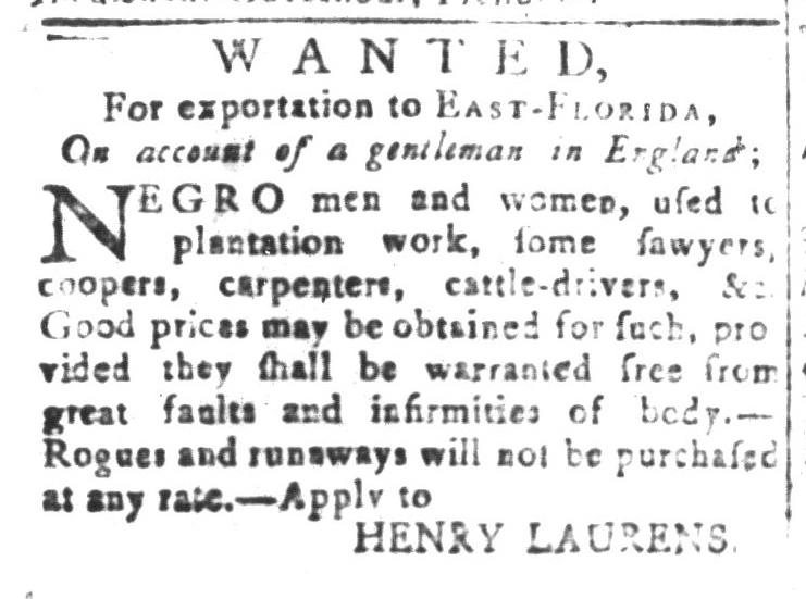 Dec 25 - South-Carolina and American General Gazette Slavery 10